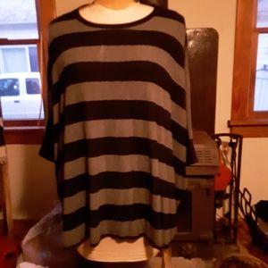 Striped Poncho Sweater
